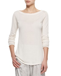 Atm Cashmere Boat Neck Sweater Small