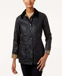 Barbour Beadnell Wax Raincoat Navy
