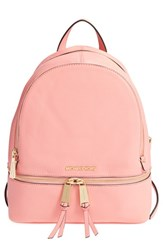 Michael Michael Kors 'Small Rhea Zip' Leather Backpack Pink Pale Pink Gold