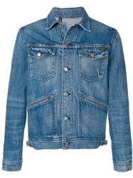 Tom Ford Slim Fit Denim Jacket Blue