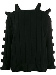 Mcq By Alexander Mcqueen Ribbed Jumper Black
