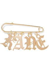 Christopher Kane Gold Tone Brooch One Size