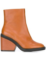 Robert Clergerie 'Babe' Boots Brown