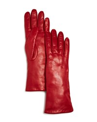 Bloomingdale's Leather Gloves Red