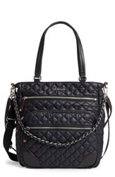 M Z Wallace Mz Crosby Quilted Oxford Nylon Tote Black