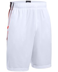 Under Armour Men's Select 9 Basketball Shorts White Orange