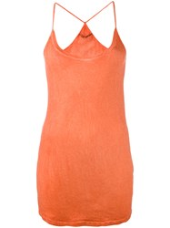 Humanoid Racerback Tank Top Yellow Orange