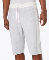 Sean John Men's Heathered Colorblocked Terry Shorts Athletic G