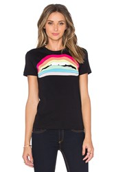 Red Valentino Rainbow Lips Tee Black