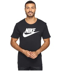 Nike Futura Icon Tee Black Black White Men's Short Sleeve Pullover