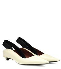 Proenza Schouler Slingback Wave Leather Mules White