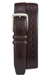 Mezlan Men's 'Ascot Perseo' Leather Belt Brown