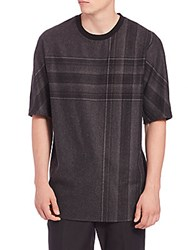 3.1 Phillip Lim Plaid Dolman Sleeve Tee Charcoal