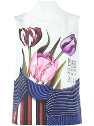 Mary Katrantzou Tulip Print Tank Top White