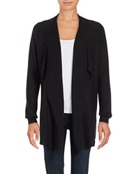 Lord And Taylor Mini Cable Knit Flyaway Cardigan Black