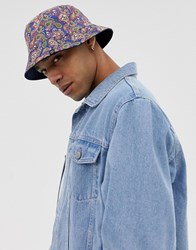 62295a459 All Over Paisley Print Reversible Bucket Hat Vintage Paisley Multi