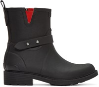 Rag And Bone Black Moto Rain Boots