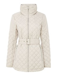Andrew Marc New York Quilted Jacket With Tuck Away Hood Grey
