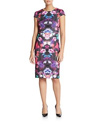Betsey Johnson Floral Print Sheath Dress Multicolor