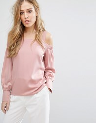 Warehouse Off The Shoulder Top Nude Cream