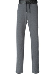 Versace Collection Straight Fit Track Pants Grey