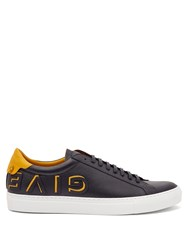 Givenchy Urban Street Low Top Leather Trainers Black Yellow