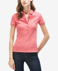 Lacoste Five Button Slim Fit Polo Pink