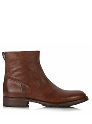 Belstaff Attwell Waxed Leather Boots Tan