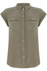 Oasis Soft Safari Shirt Khaki