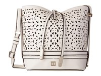 Ivanka Trump Briarcliff Small Convertible Bucket White Lasercut Non Leather Convertible Handbags