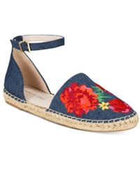 Kenneth Cole New York Blaire Two Piece Espadrille Flats Women's Shoes Blue