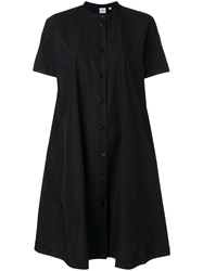 Aspesi Loose Fit Shirt Dress Cotton Black