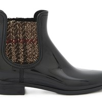 Lemon Jelly Patty Ankle Boots Black Tweed