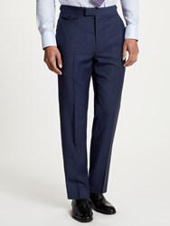 Chester Barrie By Travel Wool Tailored Suit Trousers Navy Black