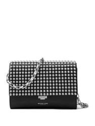 Michael Kors Small Studded Leather Clutch Black
