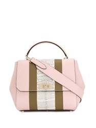 Bally Structured Tote Bag Pink