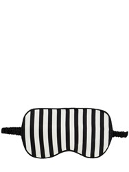 Olivia Von Halle Striped Silk Satin Eye Mask