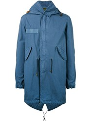 Mr And Mrs Italy Hooded Parka Blue