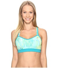 Moving Comfort Uprise Crossback A B Mirage Kasbah Women's Bra Blue