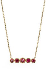 Bony Levy Women's Gemstone Pendant Necklace Nordstrom Exclusive Yellow Gold Ruby