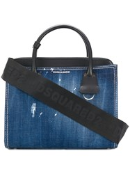 Dsquared2 Denim Tote Bag Blue