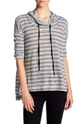 Hip Lightweight Funnel Stripe Pullover Black