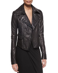 Donna Karan Asymmetric Leather Moto Jacket
