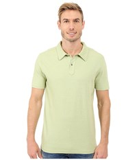 Agave Denim Hoh Italian Short Sleeve Polo Lime Men's Clothing Green