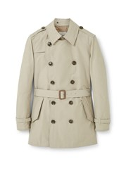 Mango Cotton Blend Trench Coat Beige
