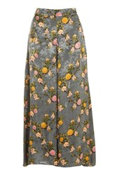 Topshop Floral Palazzo Wide Leg Trousers Multi