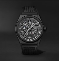Zenith Defy Classic Automatic 41Mm Ceramic And Rubber Watch Black