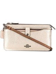 Coach Woman Met Colorblock Pop Up Msngr Brown