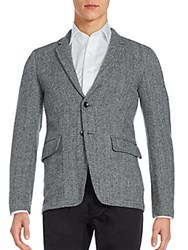 Rag And Bone Wool Knit Jacket Grey