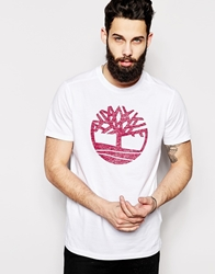 Timberland T Shirt With Classic Logo White